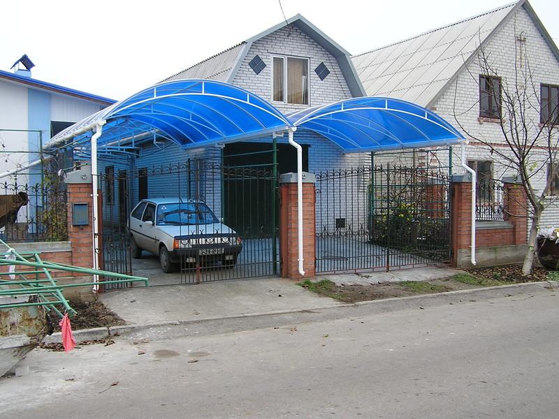 Навесы из поликарбоната своими руками во дворе частного дома фото